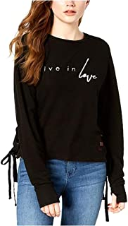 Peace Love World Women's Live in Love Graphic Lace-Up Sweatshirt
