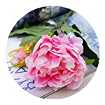 Holding Flowers, Artificial Sunflowers Silk Flower Wedding Bridal Bouquet Fake Peony for Home Garden Church Wedding Decoration, Height 11.8 Inches