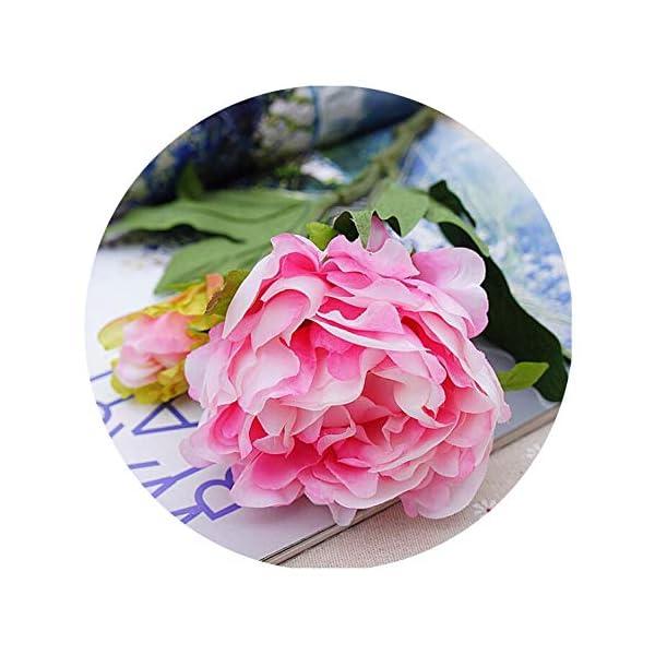 Artificial Flowers Peony 3 Heads Silk Flowers Home Decoration Wedding Flowers