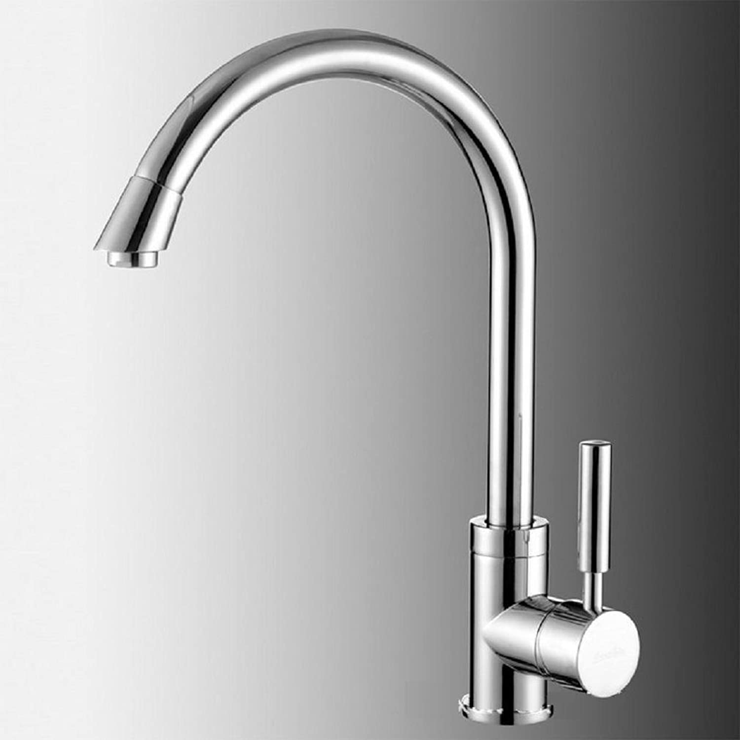 AMZH All Copper Taps Hot And Cold Double Hole Kitchen Sink Faucet Wash Sink Faucet