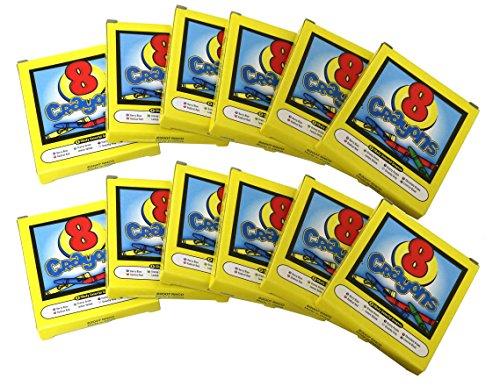 SNInc. Bulk Crayon Party Favor Pack of 12 Crayon Boxes 8 Crayons Per Box