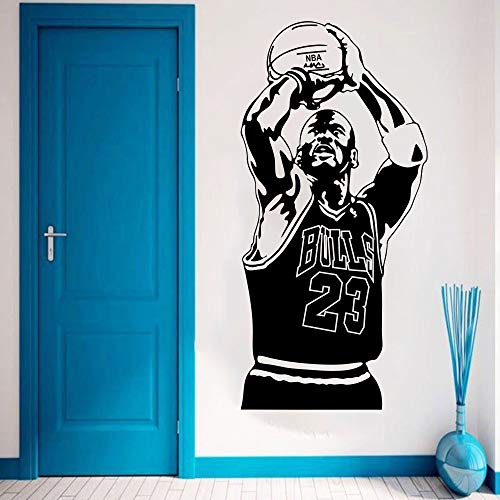 yaonuli Basketball Superstar Wandaufkleber Vinyl Home Decor Basketball Spieler Aufkleber Sport Star Kinderzimmer 64x132cm