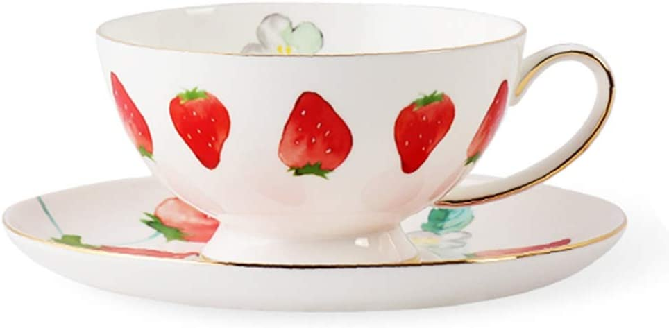Excellence Tea cup Limited Special Price Teacup Flower Cup Strawberry China Coffee After Bone