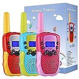 Kearui 3 Pack Walkie Talkies for Kids, Two-Way Radios Toys with Backlit LCD