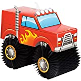Creative Converting Monster Truck Centerpiece, 1 ct, Multi-colored, 8.5' x 10'
