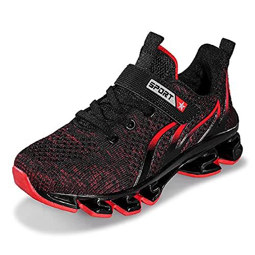 Zapatillas deportivas ligeras y transpirables para niños, color Rojo, talla 38/38.5 EU