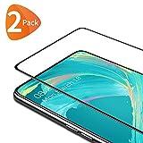 Bewahly Cristal Templado para Samsung Galaxy A80 / A90 [2 Piezas], Ultra Fino Completa Cobertura Protector Pantalla, 9H Dureza Alta Definicion Vidrio Templado Sin Burbujas para Samsung A80/A90 (Negro)