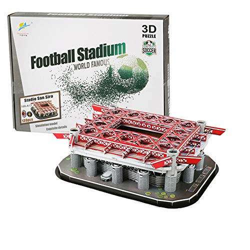 3D Jigsaw Puzzle, Anfield Stadium, Stamford Bridge Stadium, Emirates Stadium, Camp Nou Stadium, Bernabéu Stadium, Allianz Stadium, San Siro Stadium, Alp Stadium for Fans