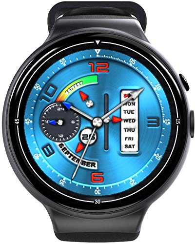 I4air Smart Watch 2G + 16G Full Circle WiFi Heart Rate Pay Camera Answer Call Chronograph Permanent Calendar Black