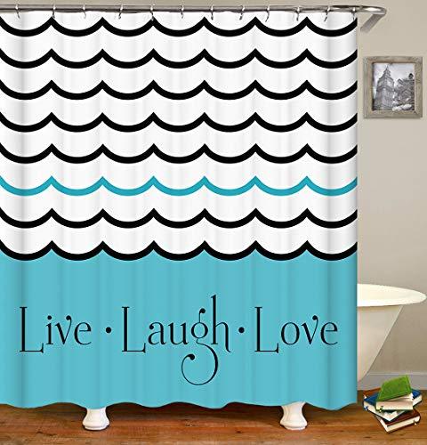 Ockigant Cartoon-Duschvorhang, wasserdicht, aus Polyester, mit 3 Minions-Motiven, Kuchen, Kaugummi & Apfel, für Fotos, Glück auf gelbem Hintergr&, Stoff Badezimmer-Set mit Haken 72