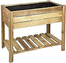 Suinga Rechthoekige tafel van hout, 100 x 50 x 75 cm, van wilde grenen, incl. geotextiel om de tank van elk model te bedek...