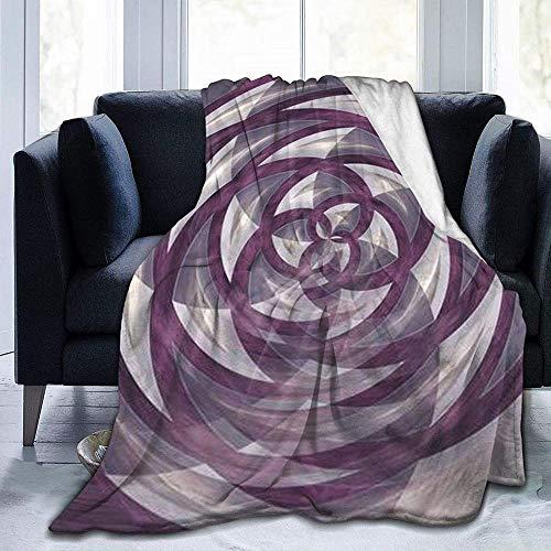 DWgatan Couverture,Couvre-lit de canapé Polyvalent Doux et Chaud de qualité Sphere Blooming Flower Rose Printed Blanket for Bedroom Living Room Couch Bed Sofa -80\