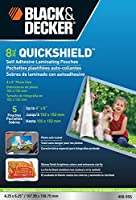 Black + Decker quickshield自己粘着レターサイズLaminatingシート、3-mil、50パック(let-50shss)