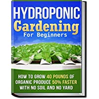 Hydroponic gardening for beginners book cover