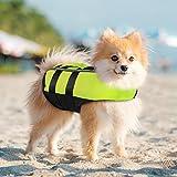 PETLESO - Chaleco salvavidas para perros, reflectante, para perros, con asa...
