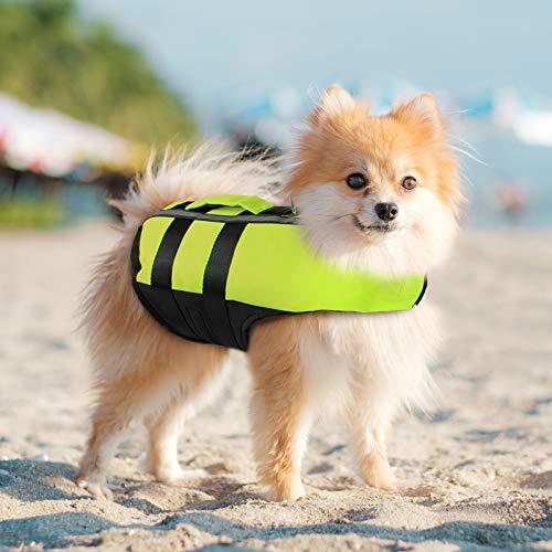 PETLESO Hundeschwimmweste Rettungswesten für Hunde Reflektierende Schwimmweste für Hunde mit Rettungsgriff-M
