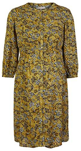 ESPRIT Maternity Damen Dress WVN nurs 3/4 sl AOP Kleid, Khaki Green-350, 38