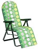 Alco M283229 - Tumbona relax 5 posiciones acero verde rayas 787vor-0036