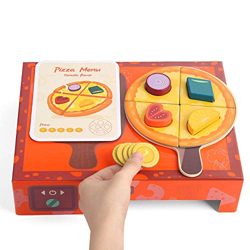 Yifuty Geometrische Form Pizza Box Kognitive Matching Simulation Küche Cutie Le 2-3 Jahre Alte Kinder Early Education Educational Spielzeug