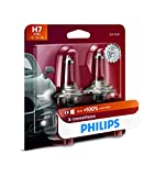 Philips Automotive Lighting H7 X-tremeVision Upgrade Headlight Bulb with up to 100% More Vision, 2 Pack, white (12972XVB2)