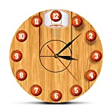 Reloj de pared Diseño de cancha de baloncesto Reloj de pared...