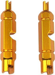 Homyl 2 tubos de válvula de pneu removedor de núcleo de ferramenta para remoção de válvula de pneu para extensor Schrader ...