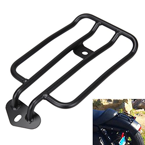 Sange Black Motorcycle Rear Fender Rack Solo Seat Luggage Rack Luggage Shelf for Harley Sportster XL883 1200 2004-2015