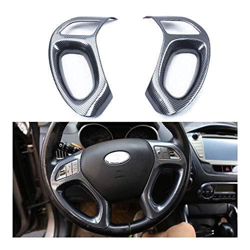 BBQ@FUKA 2 PZ Copertura Del Volante Dell'automobile Trim Interni In Fibra di Carbonio Styling Fit Per Hyundai IX35 2010 2011 2012 2013 2014 2015