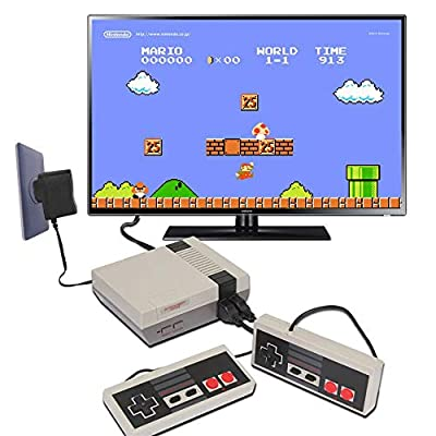 XJHANG 620 Retro Game Console, AV Output Mini NES Console Built-in Hundreds of Classic Video Games System by XJHANG