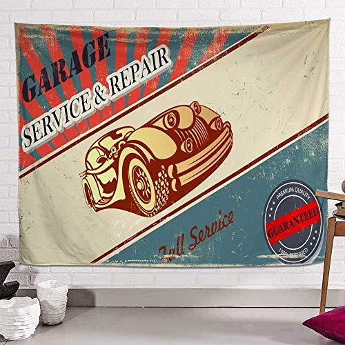YANGYUAN Clásica del coche retro de la tapicería, cómica colgantes de habitaciones de estilo tapicería de la pared, la tapicería Hombres Niño Niña, tapicería de la pared for la decoración del dormitor