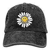 Wdskbg Smiley World Daisy Smiley Denim Hat Adjustable Unisex Great Baseball Cap Multicolor4