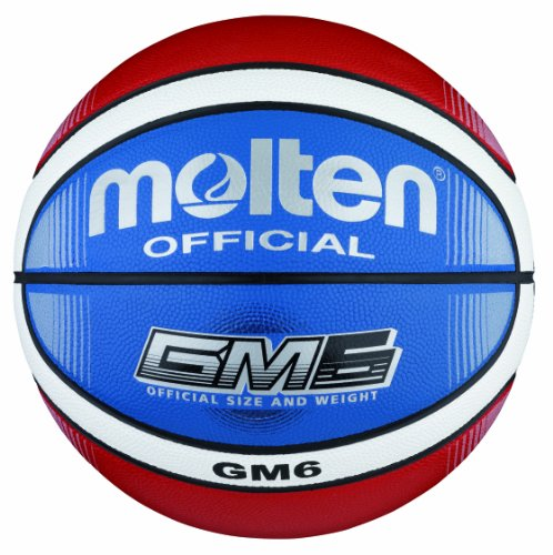 Molten Unisex's top Training Basketball Ball Gr. 6 Blue-red-Wh