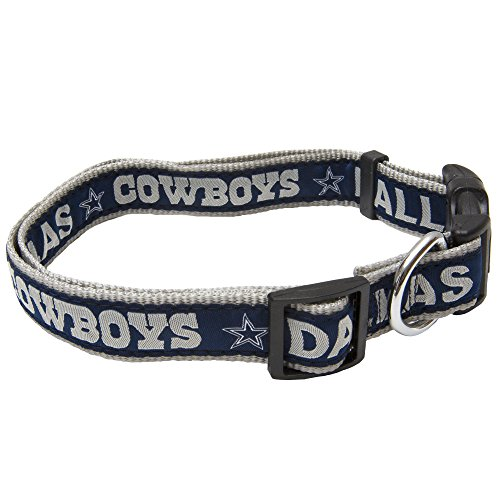 Pets First NFL Dallas Cowboys STRONG & ADJUSTABLE DOG Collar, Large