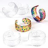 Baker Ross EK4986 Armreifen, Acryl, Buntglas-Effekt, 54 mm Durchmesser, für Kinder zum Gestalten und Bemalen (6 Stück), Sortiert