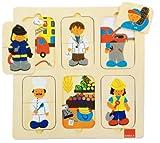Goula - Puzzle profesiones, piezas de madera (Diset 53070) , color/modelo surtido
