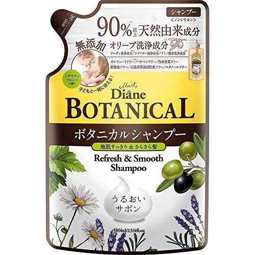 Moist Diane Botanical Hair Shampoo 380ml - Refresh & Smooth - Refill (Green Tea Set)