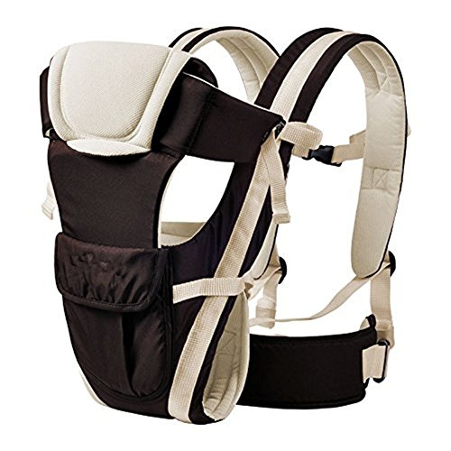 Qiorange Babytrage, Bauch-, Rücken- und Hüfttrage, 4 Tragpositionen (3-18KG, 0-30 Monate) (Khaki)