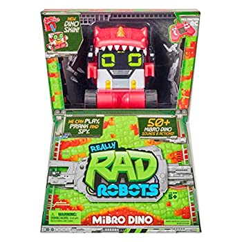 Really R.A.D Robots - Mibro Dino - Interactive R/C Robot   50+ Sounds and Actions   Remote Control Robot Walkie Talkie Jokes and Pranks  27846