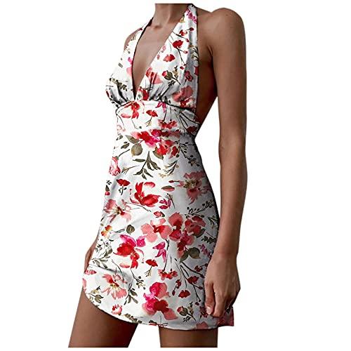 ZPO Vestidos Mujer Casual Playa Largos Verano Tie Dye Vestido Boho Hendidura Falda Larga Maxi Vestido Playeros