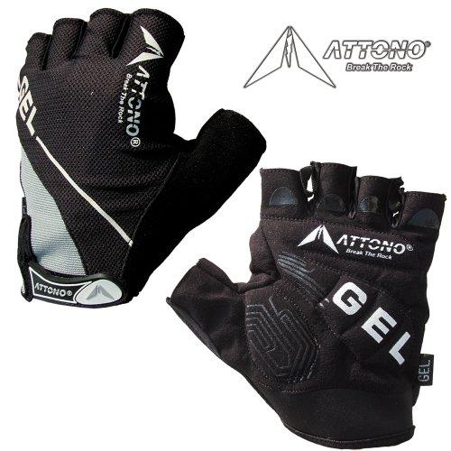 Attono Gel Fahrradhandschuhe Fahrrad Mountainbike Handschuhe mit Gelpolsterung - Größe 8