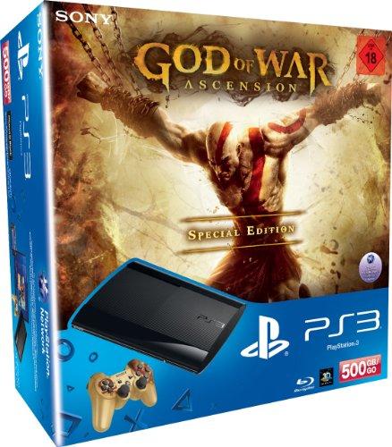 PlayStation 3 - Konsole Super Slim 500 GB (inkl. DualShock 3 Wireless Controller + God of War Ascension Special Edition)