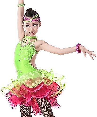 QCBC Latin vêtements Enfants Femme Sue Jupes Latin compétitions pour Robe de Danse de Salon Adultes Enfants et vêtements de Danse