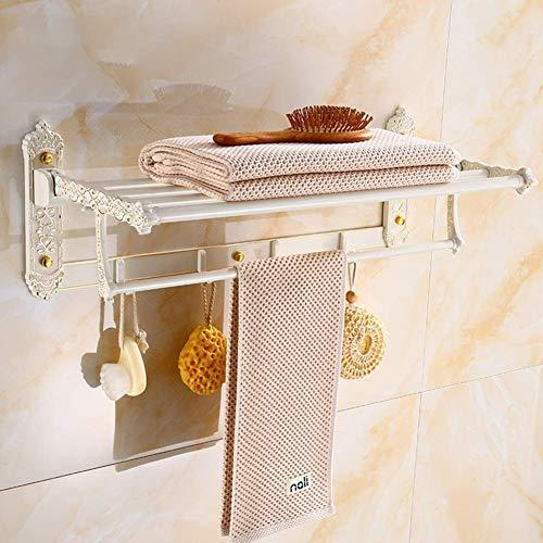 Wtbew-u Toallero Baño, Toallero Pared Acero Inoxidable Estante de baño montado en la Pared, Espacio Europeo, Aluminio Doble Sanitario, c (Color : C)
