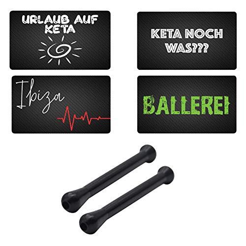Tubos de colores y tarjetas de crédito con aspecto de carbono – Vacaciones en keta – Keta aún algo – Ibiza – Balling – Tarjetas Snuff Snorter Sniffer Snuffer para tabaco de rescate,