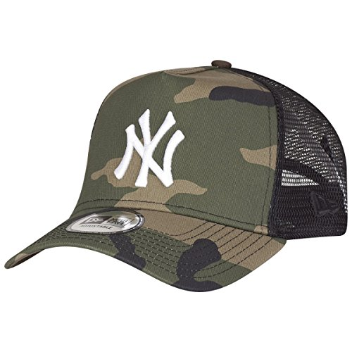 New Era Adjustable Trucker Cap - New York Yankees Wood Camo