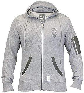 Crosshatch Mens Sweatshirt Hooded Top Sweat Zip Fleece Lined Casual Winter New