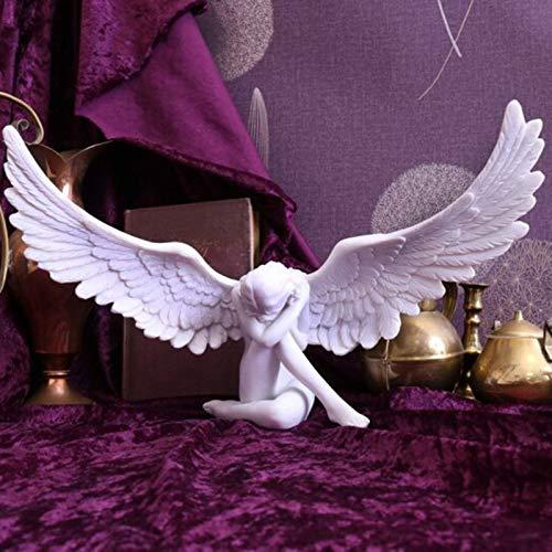 woyada Engelsfeen Mutter Figur Harz-Statue geflügelter Trauer Engel Ornament Gedenken und Erlösung, religiöse Gartenfigur für Garten Haus Kunst Dekoration