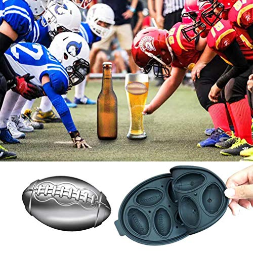 Yorimi 3D Rugby Eisform, Silikon-Backform Rugby Kuchenform Backwerkzeug