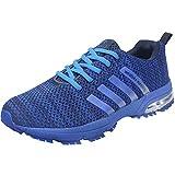 Wealsex Zapatos para Correr En Montaña Asfalto Aire Libre Deportes Zapatillas De Running para Hombre (43, Azul)