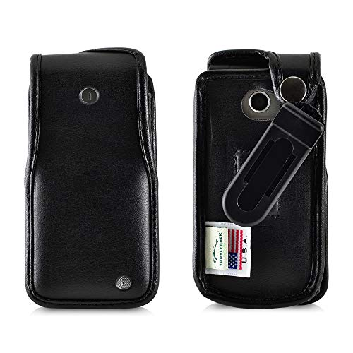 Turtleback Fitted Case Designed for LG Exalt LTE VN220 4G Black Leather with Ratcheting, Removable Belt Clip - Made in USA